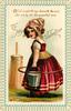 TO MY VALENTINE, Dutch girl carries milk pail