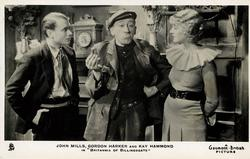 JOHN MILLS, GORDON HARKER AND KAY HAMMOND IN BRITANNIA OF BILLINGSGATE