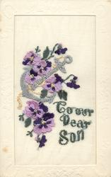 TO OUR DEAR SON  in green, violets, anchor