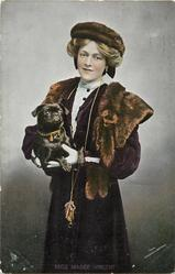 MISS MADGE VINCENT with pug