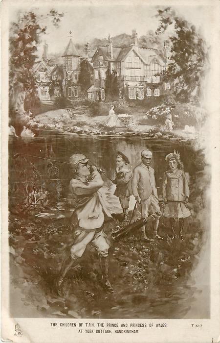 THE CHILDREN OF T.R.H. THE PRINCE AND PRINCESS OF WALES AT YORK COTTAGE SANDRINGHAM