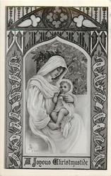 A JOYOUS CHRISTMASTIDE  Jesus on Mary's lap