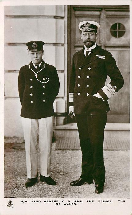 H.M. KING GEORGE V. & H.R.H THE PRINCE OF WALES