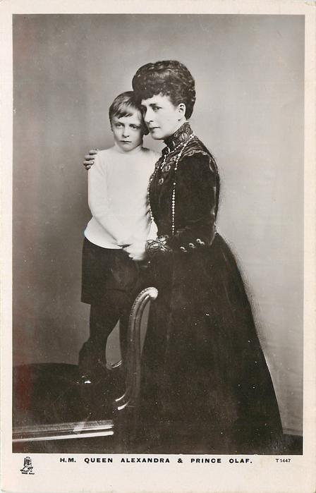 H.M. QUEEN ALEXANDRA & PRINCE OLAF (of norway)