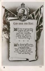 GOD SAVE THE KING, GOD SAVE OUR GRACIOUS KING//KING  national anthem