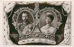 CORONATION SOUVENIR, JUNE 22, 1911 2 insets of King & Queen, in crown , ermine surround