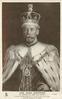 THE KING-EMPEROR IN CORONATION ROBE AND CROWN, AFTER THE ORIGINAL PAINTING BY I. SNOWMAN FROM SPECIAL SITTINGS GRACIOUSLY GRANTED BY HIS MAJESTY