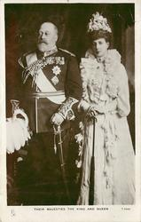 THEIR MAJESTIES THE KING AND QUEEN