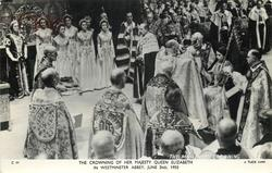THE CROWNING OF HER MAJESTY QUEEN ELIZABETH IN WESTMINSTER ABBEY, JUNE 2ND, 1953