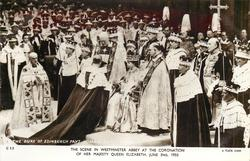 THE SCENE IN WESTMINSTER ABBEY AT THE CORONATION OF HER MAJESTY QUEEN ELIZABETH, JUNE 2ND, 1953