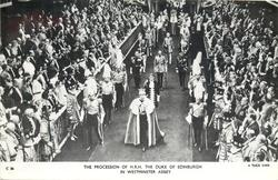 THE PROCESSION OF H.R.H. THE DUKE OF EDINBURGH IN WESTMINSTER ABBEY