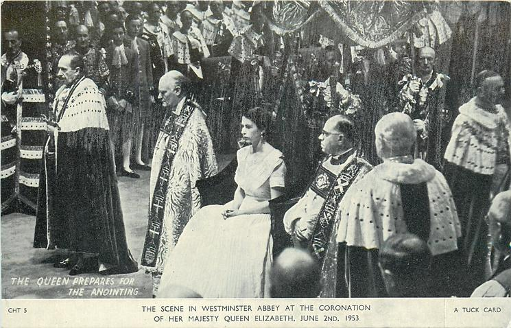 THE QUEEN PREPARES FOR THE ANOINTING