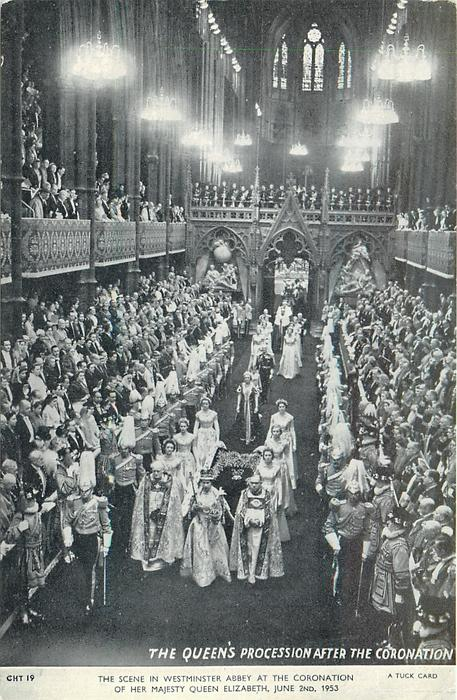 THE QUEEN'S PROCESSION AFTER THE CORONATION
