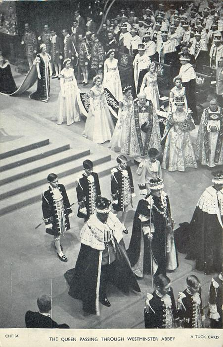 THE QUEEN PASSING THROUGH WESTMINSTER ABBEY
