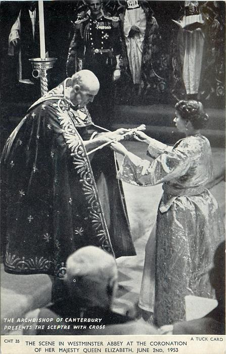 THE ARCHBISHOP OF CANTERBURY PRESENTS THE SCEPTRE WITH CROSS