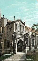 SOUTH PORCH, ST. NICHOLAS CHURCH
