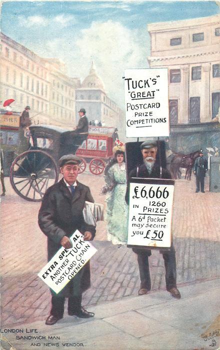 LONDON LIFE, SANDWICH MAN AND NEWS VENDOR