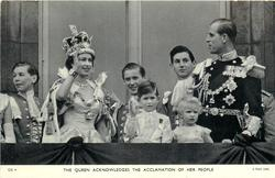 THE QUEEN ACKNOWLEDGES THE ACCLAMATION OF HER PEOPLE