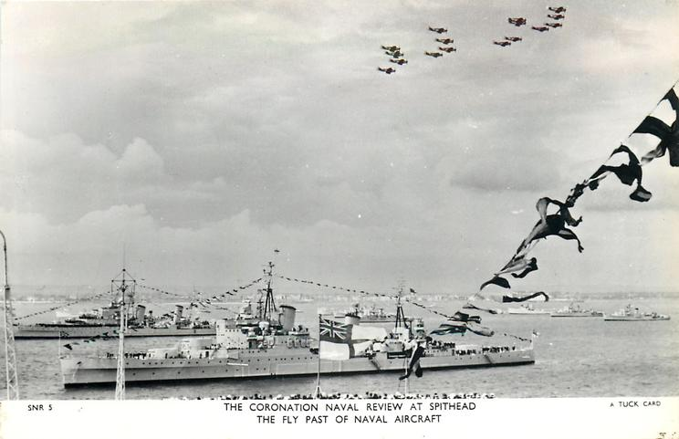 THE FLY PAST OF NAVAL AIRCRAFT