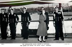 "THE QUEEN ON BOARD THE ROYAL YACHT ""SURPRISE"""
