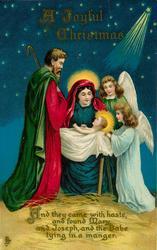 A JOYFUL CHRISTMAS Mary, Child, Joseph & two angels