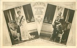 SOUVENIR OF THE SILVER JUBILEE MAY 1935, 2 insets HER MAJESTY QUEEN MARY & HIS MAJESTY KING GEORGE V.