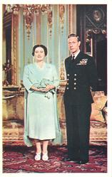 The Majesties Queen Elizabeth and King George VI. standing