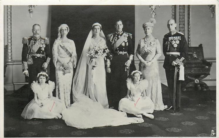 ROYAL WEDDING GROUP AT BUCKINGHAM PALACE, NOVEMBER 29TH, 1934, OF T.R.H.