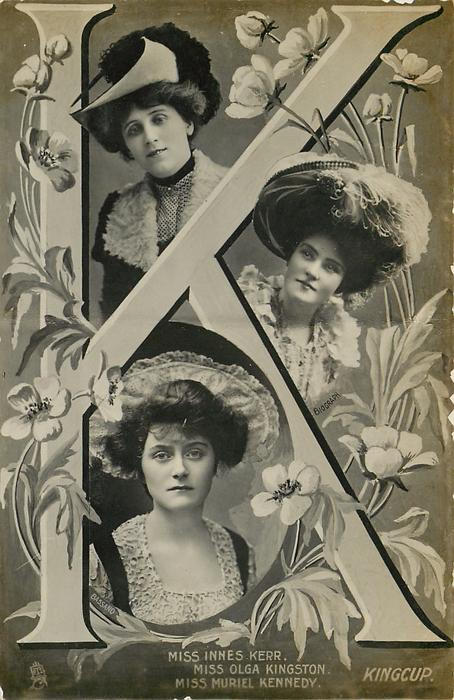 J, MISS INNES KERR, MISS OLGA KINGSTON, MISS MURIEL KENNEDY