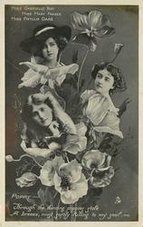 POPPY, 3 insets MISS GABRIELLE RAY, MISS MARY FRASER, MISS PHYLLIS DARE THROUGH THE DANCING POPPIES STOLE/SOUL