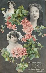 IVY GERANIUMS verse, small inserts of MAIE ASH, MAUDE FEALY & KITTY GORDON