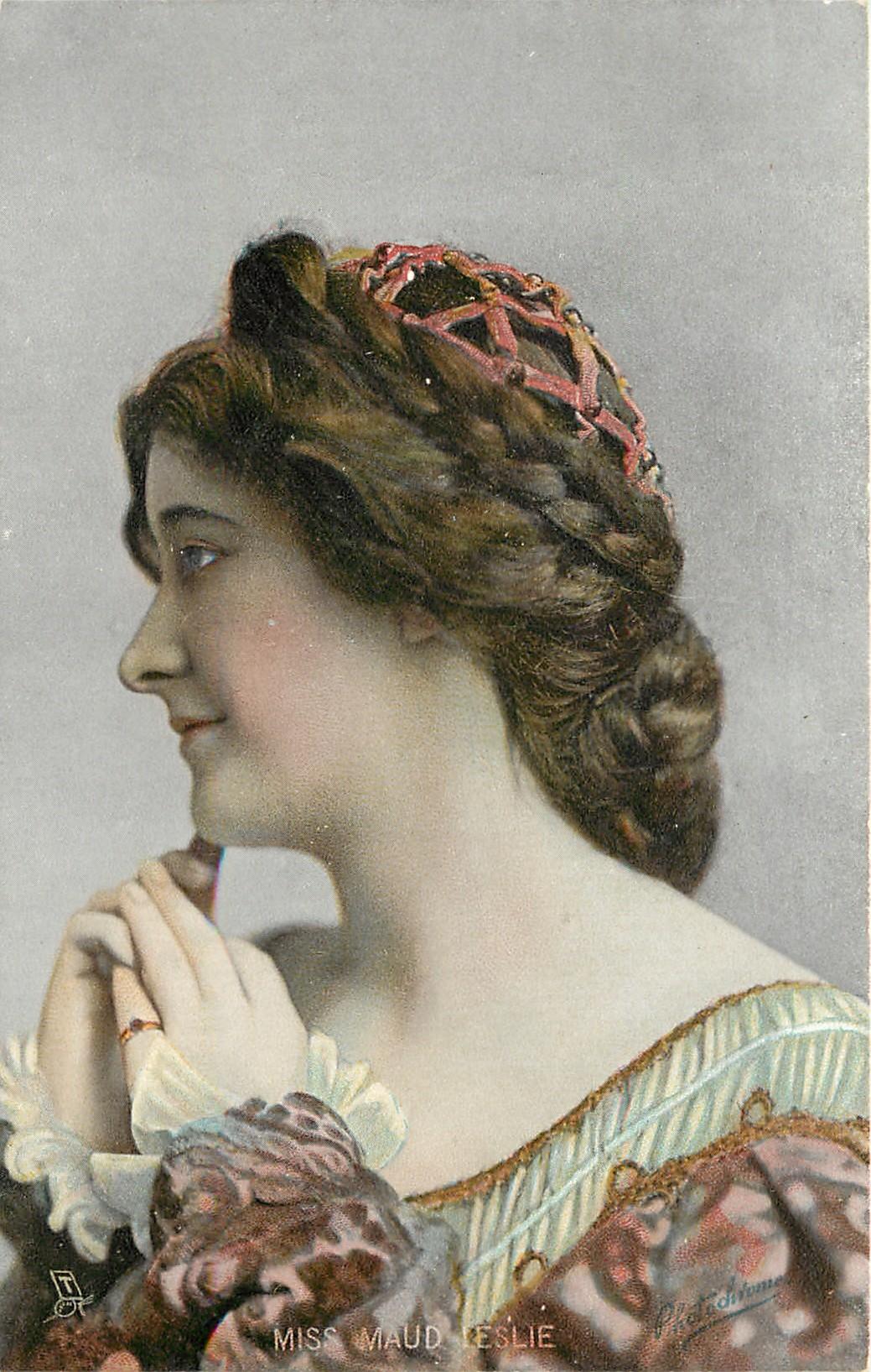 MISS MAUDE LESLIE - TuckDB Postcards