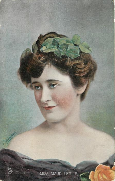 MISS MAUD LESLIE, (Tuck error for MAUDE LESLIE)