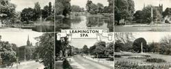 6 insets JEPHSON GARDENS/ THE RIVER LEAM AND BRIDGE/ JEPHSON GARDENS/ VICTORIA BRIDGE/ THE PARADE/ JEPHSON GARDENS