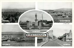 5 insets  KELLOHOLM/KIRKCONNEL NORTH/WAR MEMORIAL/GENERAL VIEW/ MAIN STREET