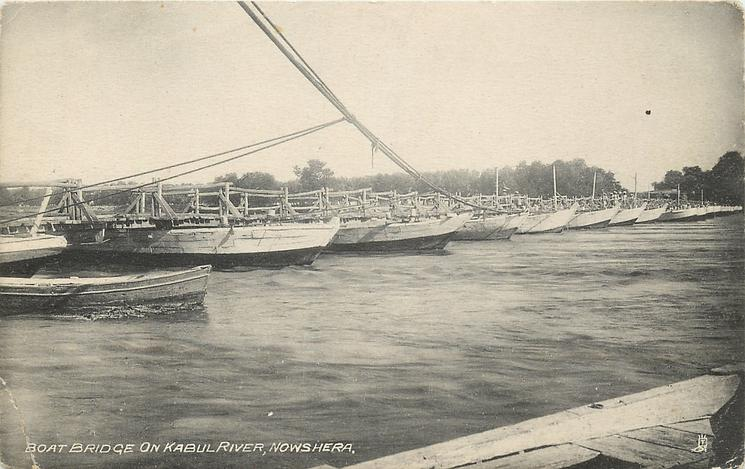 BOAT BRIDGE ON KABUL RIVER
