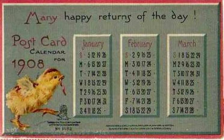JANUARY, FEBRUARY, MARCH chick walks right with worm in beak