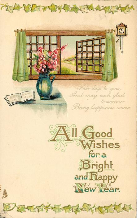 ALL GOOD WISHES FOR A BRIGHT AND HAPPY NEW YEAR
