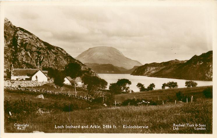 LOCH INCHARD AND ARKLE, 2486 FT.