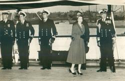 "untitled but THE QUEEN ON BOARD THE ROYAL YACHT ""SURPRISE"" is on SNR 8"