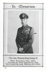 HIS LATE MAJESTY KING GEORGE VI.  Military uniform