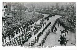 THE FUNERAL PROCESSION OF KING GEORGE VI., THE CORTAGE PASSES MARBLE ARCH