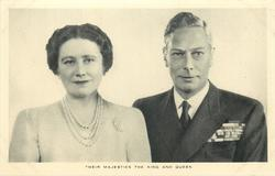 THEIR MAJESTIES THE KING AND QUEEN  George VI & Elizabeth