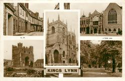 5 insets NELSON STREET/THE GUILDHALL/ST. MARGARET'S CHURCH, WEST FRONT/SOUTH GATES/BROAD WALK