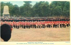 THE MASSED BANDS, DRUMS AND PIPES OF THE BRIGADE OF GUARDS