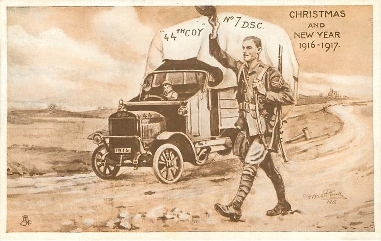 CHRISTMAS AND NEW YEAR 1916 - 1917 44th COY NO 7 D.S.C.