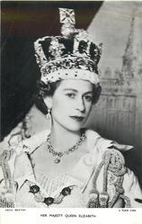 HER MAJESTY QUEEN ELIZABETH  Coronation photo, crowned