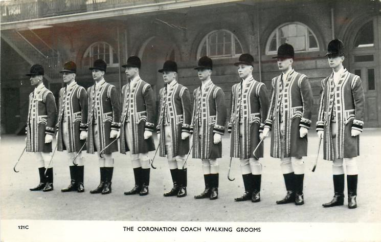 THE CORONATION COACH WALKING GROOMS