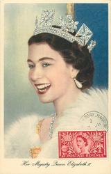 HER MAJESTY QUEEN ELIZABETH II  head & shoulders close-up