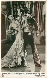 "JESSIE MATTHEWS AND GODFREY DE LEON DANCING THE RUMBA IN ""EVER GREEN"""